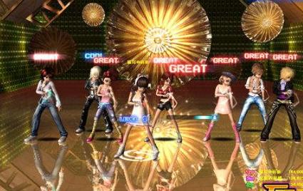 劲舞团游戏。女生舞步分享