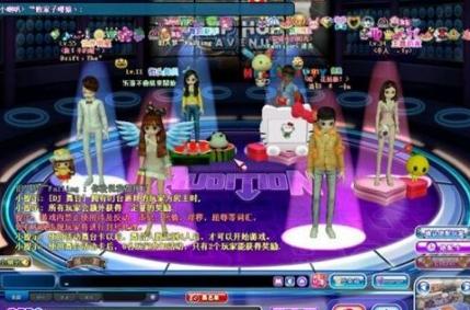 劲舞团的游戏设计非常炫酷