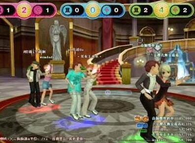 以前劲舞团游戏。很火的中文歌曲